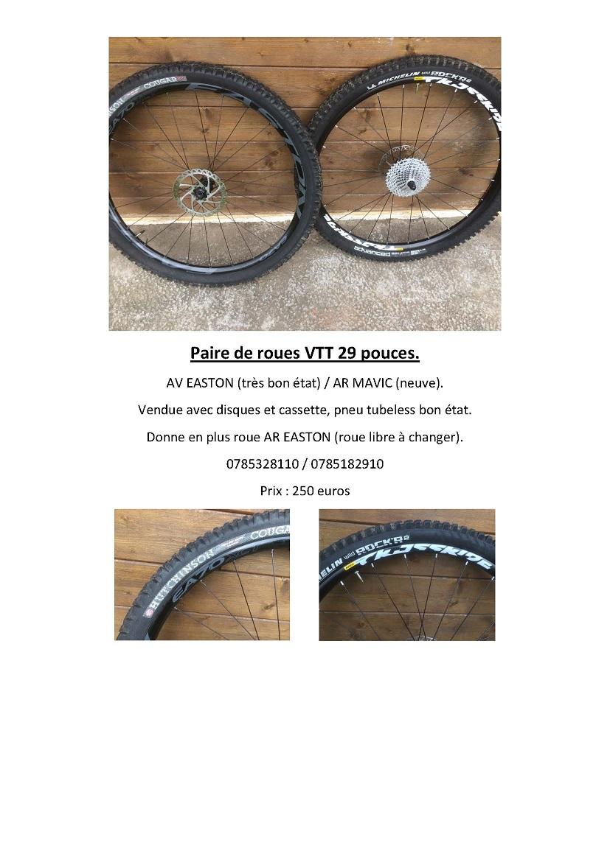 Paire de roues VTT 29 pouces