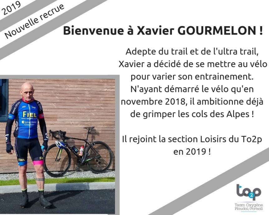 Bienvenue à Xavier Gourmelon