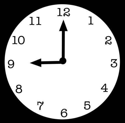 horloge 9h bis